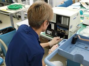 人工呼吸器のメンテナンス
